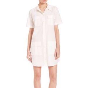 White cotton Equipment shirt dress, size M